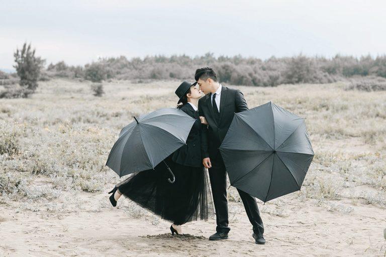 黑色系婚紗,風格,慨念