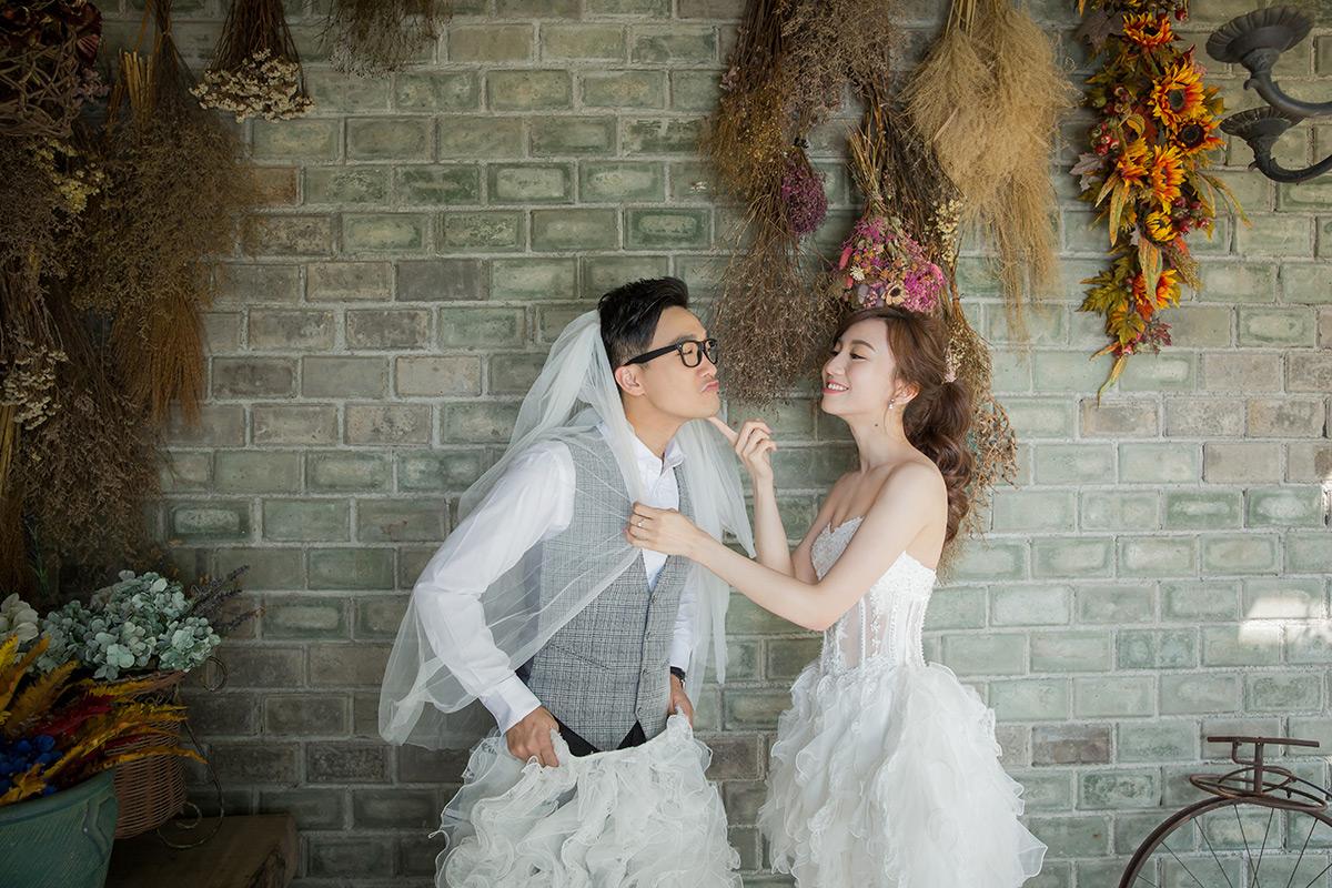 壁咚避冬拍 婚紗照 冷冷的天怎麼拍婚紗照